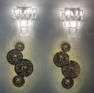 Бра LED металлическое золотое 62GDM-620