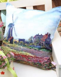 Декоративная подушка Ветряная мельница Моне