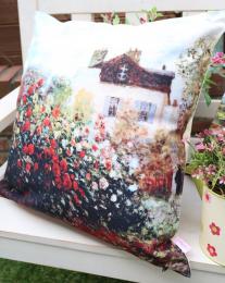 Декоративная подушка Сад художника Моне