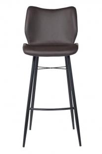 Стул барный темно-коричневый (экокожа)