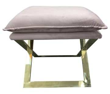 Банкетка розовая на металлическом основании N-OT-188 PI GO