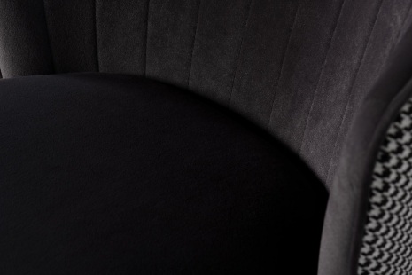 Стул барный велюровый серый