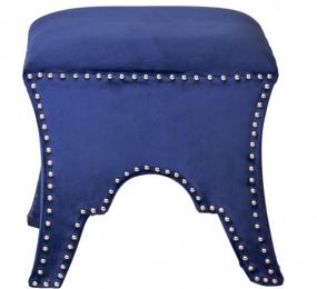 Банкетка велюровая синяя